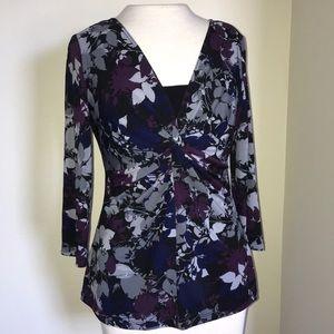 Briggs New York floral blouse